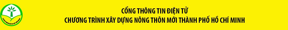 CỔNG THÔNG TIN ĐIỆN TỬ CHƯƠNG TRÌNH XÂY DỰNG NÔNG THÔN MỚI TP.HCM